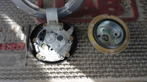 2003 Kawasaki Ninja Motorcycle Gas cap must be picked open to remove and disassembled.